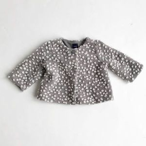 Babygap gray/white popcorn jacket  EUC 3-6 months